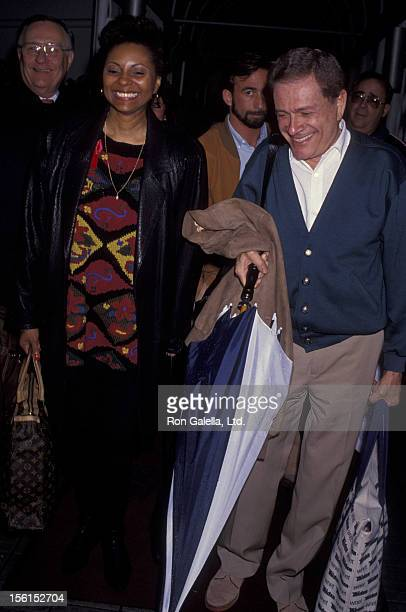 Actress Leslie Uggams and husband Grahame Pratt sighted on October 30 1992 at the Los Angeles International Airport in Los Angeles California