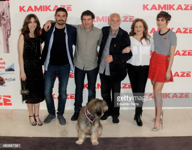 Actress Leticia Dolera actor Alex Garcia director Alex Pina actor Hector Alterio actress Carmen Machi and actress Veronica Echegui attend 'Kamikaze'...