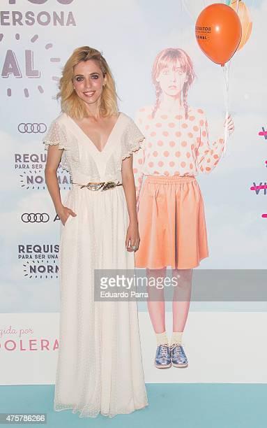 Actress Leticia Dolera attends 'Requisitos para ser una persona normal' premiere at Palafox cinema on June 3 2015 in Madrid Spain