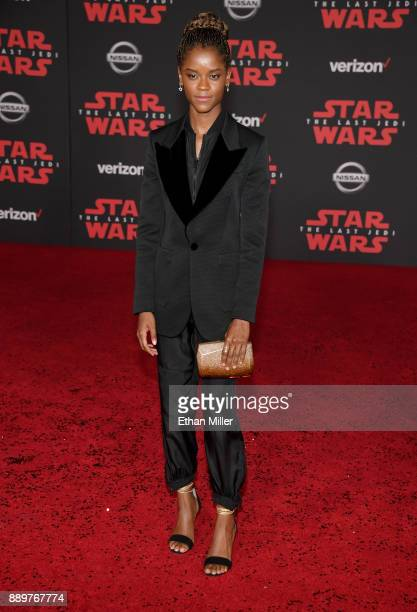 Actress Letitia Wright attends the premiere of Disney Pictures and Lucasfilm's 'Star Wars The Last Jedi' at The Shrine Auditorium on December 9 2017...