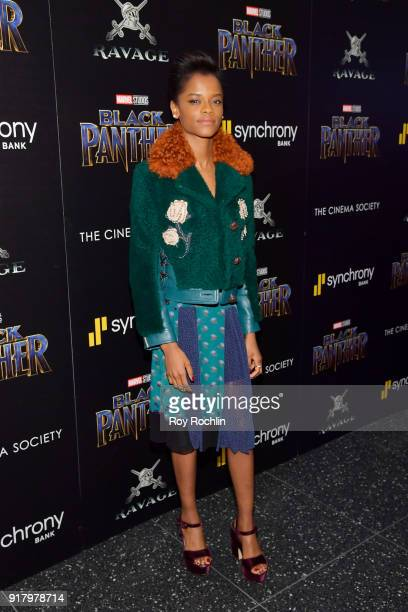 Actress Letitia Wright attends the screening of Marvel Studios' 'Black Panther' hosted by The Cinema Society on February 13 2018 in New York City