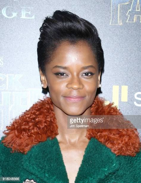 Actress Letitia Wright attends the screening of Marvel Studios' 'Black Panther' hosted by The Cinema Society with Ravage Wines and Synchrony at...