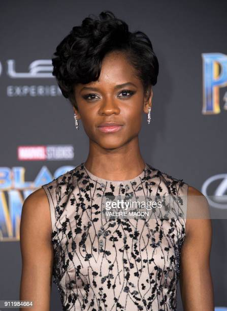 Actress Letitia Wright attends the world premiere of Marvel Studios Black Panther, on January 29 in Hollywood, California. / AFP PHOTO / VALERIE MACON