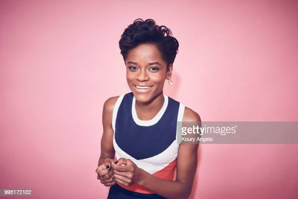 Actress Letitia Wright is photographed for Entertainment Weekly Magazine on January 30 2018 in Los Angeles California PUBLISHED IMAGE