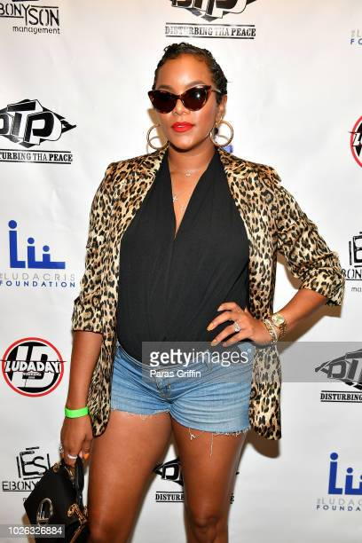 Actress LeToya Luckett attends 2018 LudaDay Celebrity Basketball Game at Morehouse College Forbes Arena on September 2 2018 in Atlanta Georgia