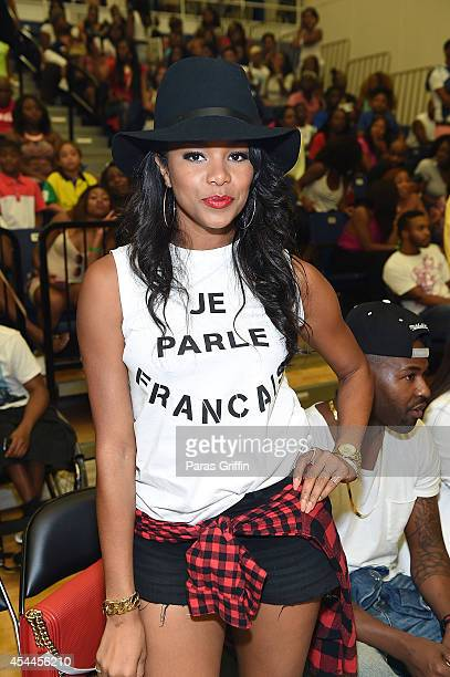Actress LeToya Luckett attends the LudaDay Celebrity Basketball Game at Georgia State University Sports Arena on August 31 2014 in Atlanta Georgia