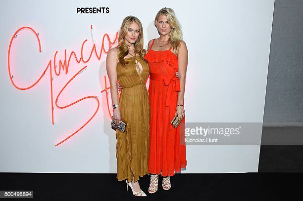 Actress Leven Rambin and model Alexandra Richards attend 'Ferragamo Presents Gancio Studios Celebrating 100 Years In Hollywood' at Gancio Studios on...