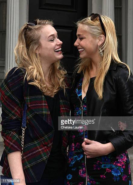 Actress Leven Rambin and Shoshana Bush attend Variety's 3rd annual 'Power of Youth' event held at Paramount Studios on December 5 2009 in Los Angeles...