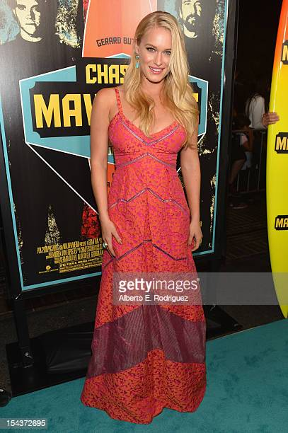 Actress Leven Rambin arrives to the premiere of 20th Century Fox's Chasing Mavericks on October 18 2012 in Los Angeles California