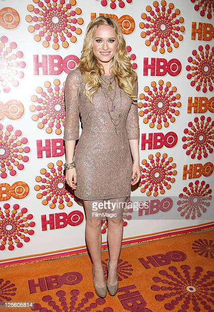 Actress Leven Rambin attends HBO's Official Emmy After Party at The Plaza at the Pacific Design Center on September 18 2011 in Los Angeles California