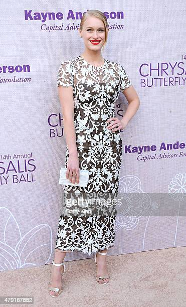 Actress Leven Rambin attends the 14th annual Chrysalis Butterfly Ball sponsored by Audi Kayne Anderson Lauren B Beauty and Z Gallerie on June 6 2015...