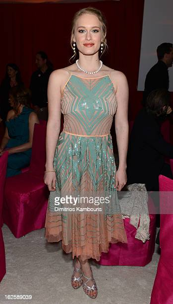 Actress Leven Rambin attends the 21st Annual Elton John AIDS Foundation Academy Awards Viewing Party at West Hollywood Park on February 24 2013 in...