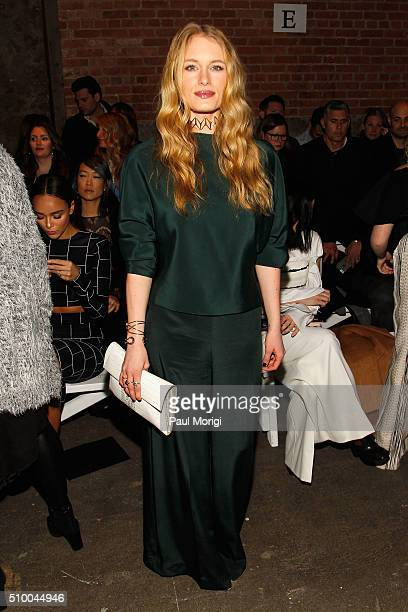 Actress Leven Rambin attends the Christian Siriano Fall 2016 fashion show during New York Fashion Week at ArtBeam on February 13 2016 in New York City