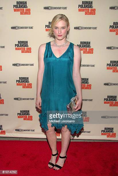 Actress Leven Rambin attends the HBO Documentaries premiere Of Roman Polanski Wanted And Desired at The Paris Thatre in New York City on May 6 2008