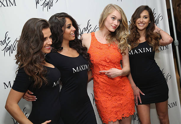 aab9d85a81f Actress Leven Rambin (2nd R) attends the Lord   Taylor Suddenly Summer Jam  with