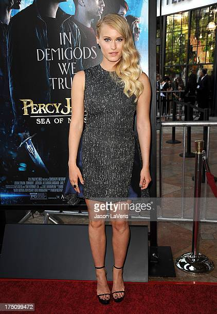 Actress Leven Rambin attends the premiere of Percy Jackson Sea Of Monsters at The Americana at Brand on July 31 2013 in Glendale California