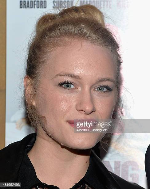 Actress Leven Rambin attends the premiere of Screen Media Films' 10 Rules For Sleeping Around at the Egyptian Theatre on April 1 2014 in Hollywood...