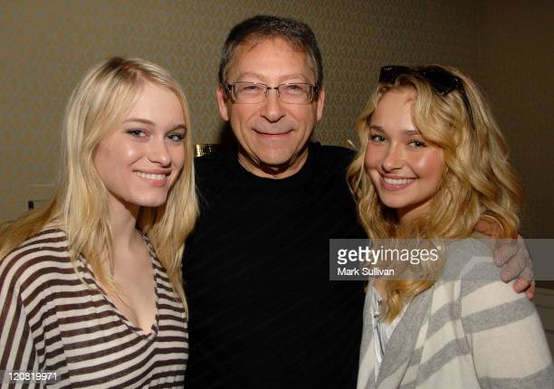 Actress Leven Rambin Stuart Weitzman and actress Hayden Panettiere in the Stuart Weitzman suite on February 21 2008 at the Four Seasons Hotel in...