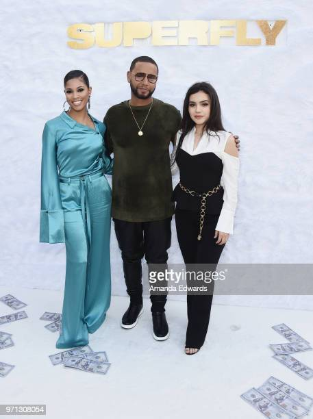 Actress Lex Scott Davis Director X and actress Andrea Londo arrive at a special screening of 'SuperFly' hosted by Sony Pictures Entertainment at Sony...