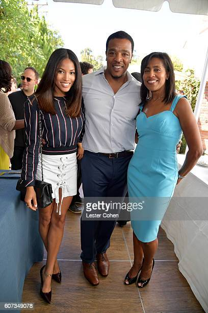 Actress Lex ScottDavis actor Russell Hornsby and ICM Partners' Andrea Nelson Meigs at the ICM Partners PreEmmy Brunch on September 17 2016 in Santa...