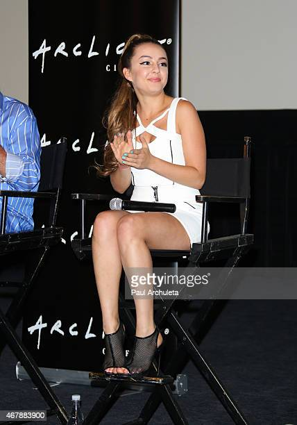 Actress Lexi Ainsworth attends the special screening of 'A Girl Like Her' at The ArcLight Hollywood on March 27 2015 in Hollywood California