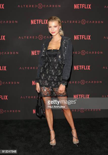 Actress Lexi Atkins attends Netflix's Altered Carbon season 1 premiere at Mack Sennett Studios on February 1 2018 in Los Angeles California