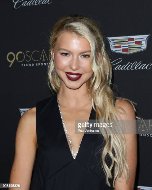 Actress Lexi Atkins attends the Cadillac celebration for the 90th Annual Academy Awards at Chateau Marmont on March 1 2018 in Los Angeles California