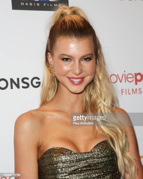 Actress Lexi Atkins attends the Los Angeles premiere of 'The Row' at Sunset 5 on July 25 2018 in West Hollywood California