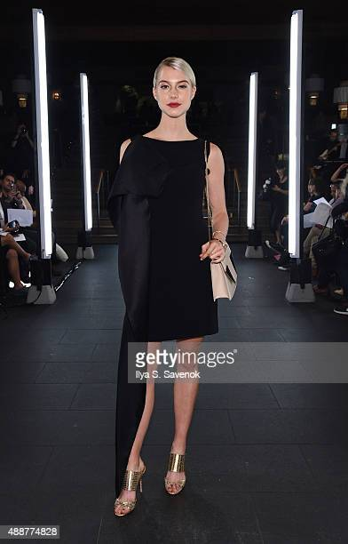 Actress Lexi Atkins attends the NVII by Anne Bowen fashion show during New York Fashion Week Spring 2016 at TAO Downtown on September 17 2015 in New...