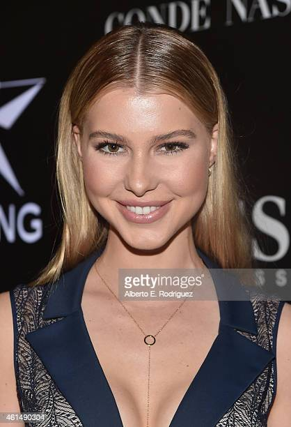 Actress Lexi Atkins attends the W Magazine Shooting Stars Exhibit Opening at Wilshire May Company Building on January 9 2015 in Los Angeles California