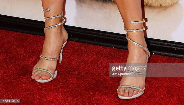 Actress Lexi Atkins shoe detail attends the Ted 2 New York premiere at Ziegfeld Theater on June 24 2015 in New York City