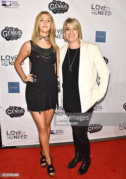 Actress Lexi DiBenedetto and Director K Rocco Shields arrive at the Los Angeles Premiere of LOVE IS ALL YOU NEED at ArcLight Hollywood on November 15...