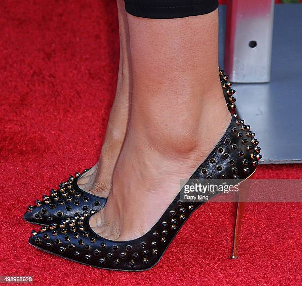 Actress Lexi Noel shoe detail attends the Premiere Of CBS Films' 'Love The Coopers' at the Grove Park Plaza on November 12 2015 in Los Angeles...