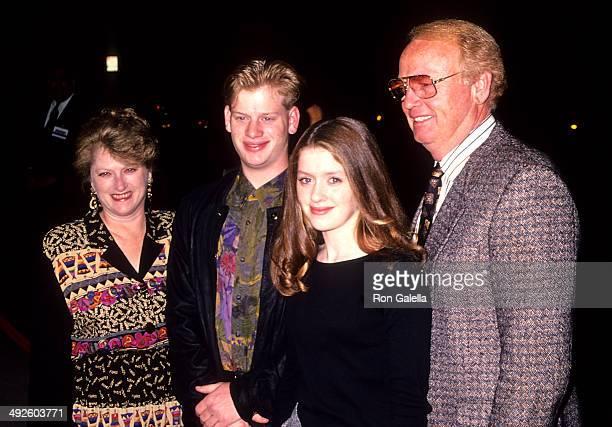 Actress Lexi Randall parents John and Michael and brother Gabe attend The War Beverly Hills Premiere on November 2 1994 at the Academy Theatre in...