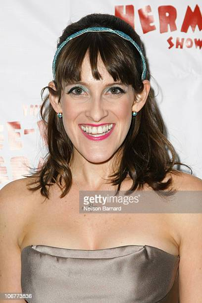 Actress Lexy Fridell attends the Broadway opening night after party of The PeeWee Herman Show at Bryant Park Grill on November 11 2010 in New York...