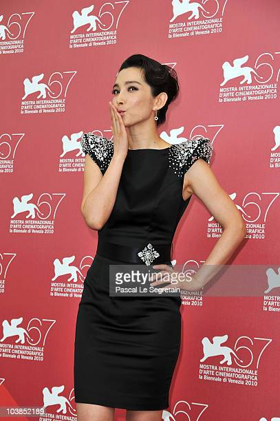 Actress Li Bingbing attends the Detective Dee And The Mystery Of Phantom Flame photocall during the 67th Venice Film Festival at the Palazzo del...