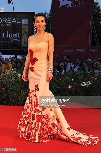 Actress Li Bingbing attends the Detective Dee And The Mystery Of Phantom Flame premiere during the 67th Venice Film Festival at the Sala Grande...