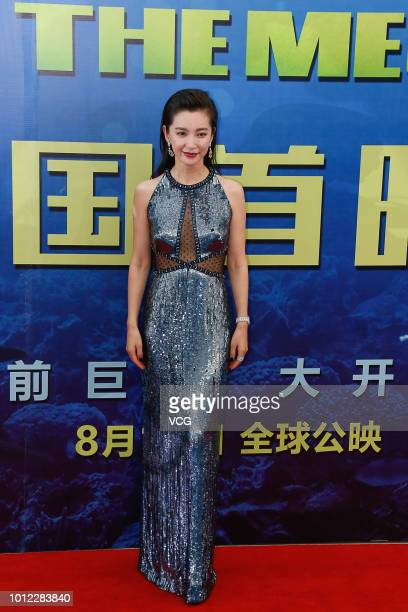Actress Li Bingbing attends the premiere of film 'The Meg' on August 2 2018 in Beijing China