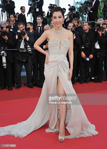 Actress Li Bingbing attends The Tree Of Life premiere during the 64th Annual Cannes Film Festival at Palais des Festivals on May 16 2011 in Cannes...