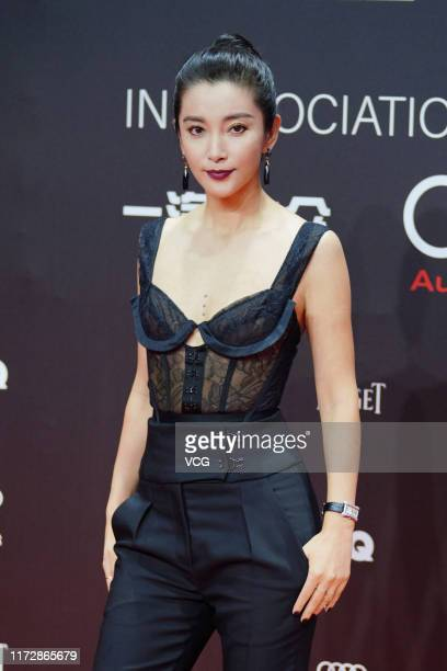 Actress Li Bingbing poses on the red carpet of 2019 GQ Men of the Year awards ceremony on September 6 2019 in Shanghai China