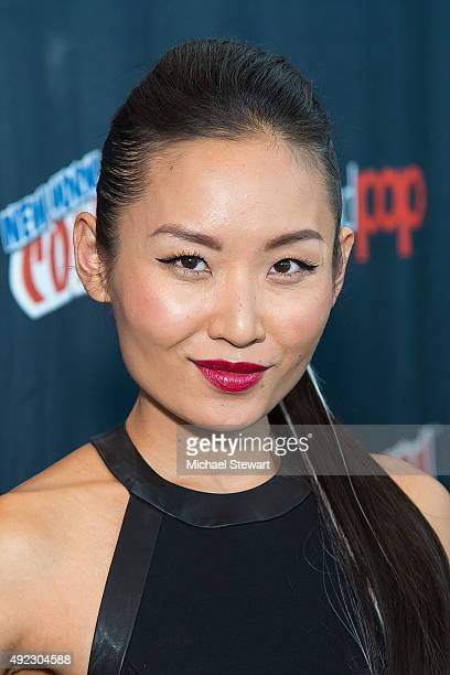 Actress Li Jun Li poses in the press room for the Minority Report panel during Comic Con Day 4 at The Jacob K Javits Convention Center on October 11...