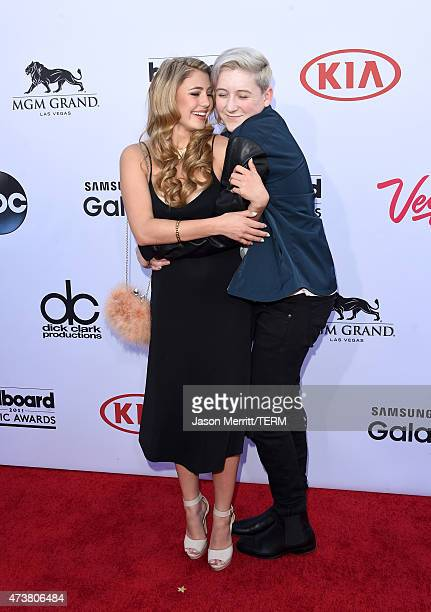 Actress Lia Marie Johnson and singer Trevor Moran attend the 2015 Billboard Music Awards at MGM Grand Garden Arena on May 17 2015 in Las Vegas Nevada