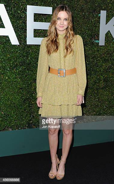 "Actress Liana Liberato arrives at Michael Kors Celebrates The Launch Of Claiborne Swanson Frank's ""Young Hollywood"" Portrait Book on October 2, 2014..."