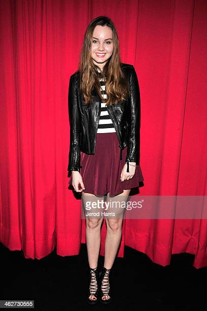 Actress Liana Liberato attends a special screening of 'Free Ride' at Arena Cinema Hollywood on January 14, 2014 in Hollywood, California.