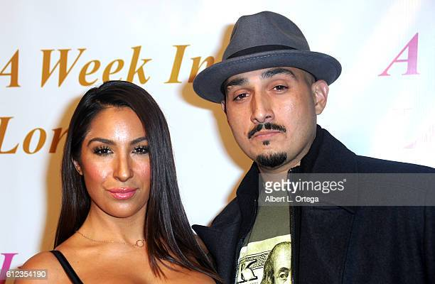 Actress Liana Mendoza and brother Adam Mendoza arrive for the Premiere Of Tanner Gordon Productions' 'A Week In London' held at ArcLight Cinemas...