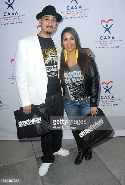 Actress Liana Mendoza and brother Adam Mendoza participate in the 2016 Justice Jog 5K to benefit Casa LA on September 25 2016 in Los Angeles...