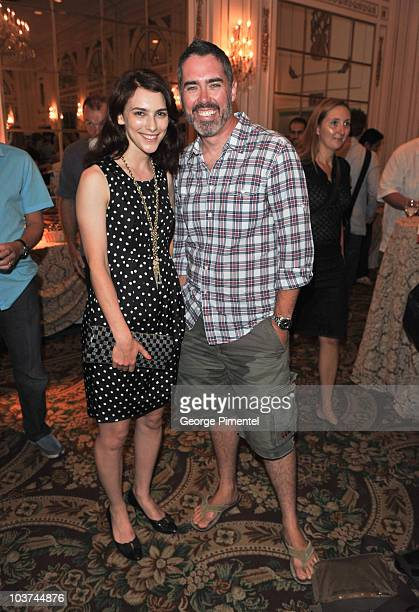 Actress Liane Balaban and singer Ed Robertson attend the 25th Annual Gemini Awards Press Conference at Sutton Place Hotel on August 31, 2010 in...