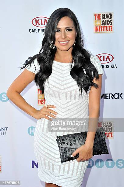 Actress Liannet Borrego attends the Black AIDS Institute 2015 Heroes in the Struggle Reception Gala and Awards Ceremony at Directors Guild Of America...