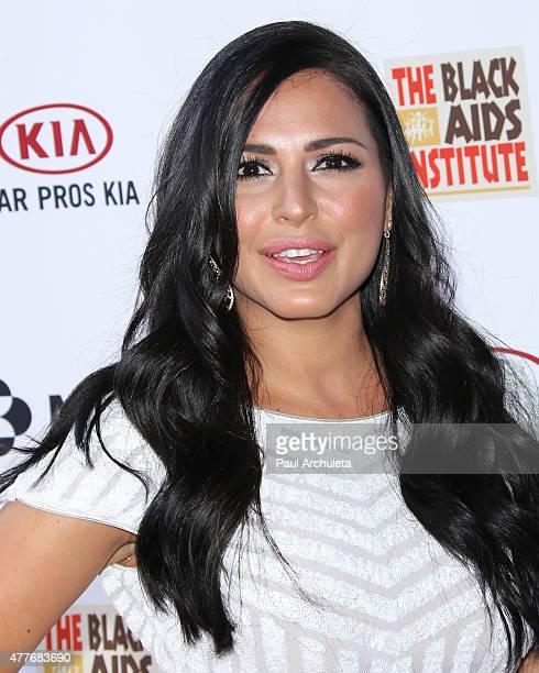 Actress Liannet Borrego attends the Black AIDS Institutes 2015 Heroes In The Struggle gala reception and awards ceremony at The Directors Guild Of...