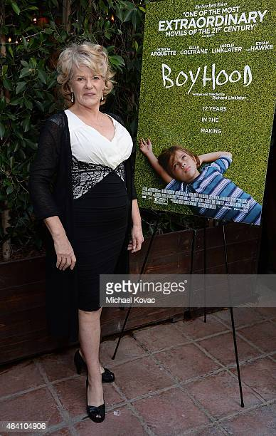 Actress Libby Villari attends the AMC Networks and IFC Films Spirit Awards After Party on February 21 2015 in Santa Monica California